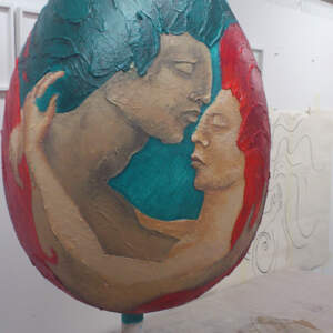 Entwined, Painted egg