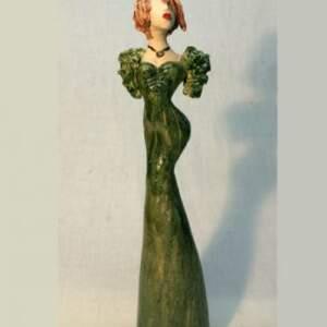 Vintage Diva with ruffled sleeves>Vintage green ruffles, 33cm