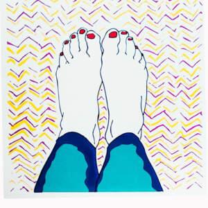 Limited edition Screen prints>Feet on hospital sheet