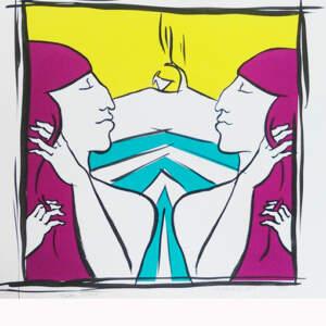 Limited edition Screen prints>Mirror Mirror, 34 x 34cm, ed.5, €150