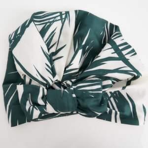 Palm print bow – turban + cap
