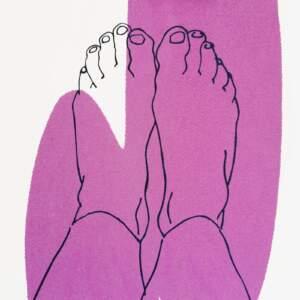 Pink splash feet