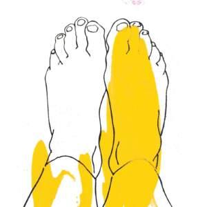 Yellow splash feet