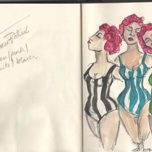 Three bathers>Three bathers sketch