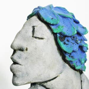 Light blue leaves>Face detail