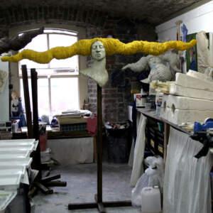 Chryseus>Chryseus sculpture in studio