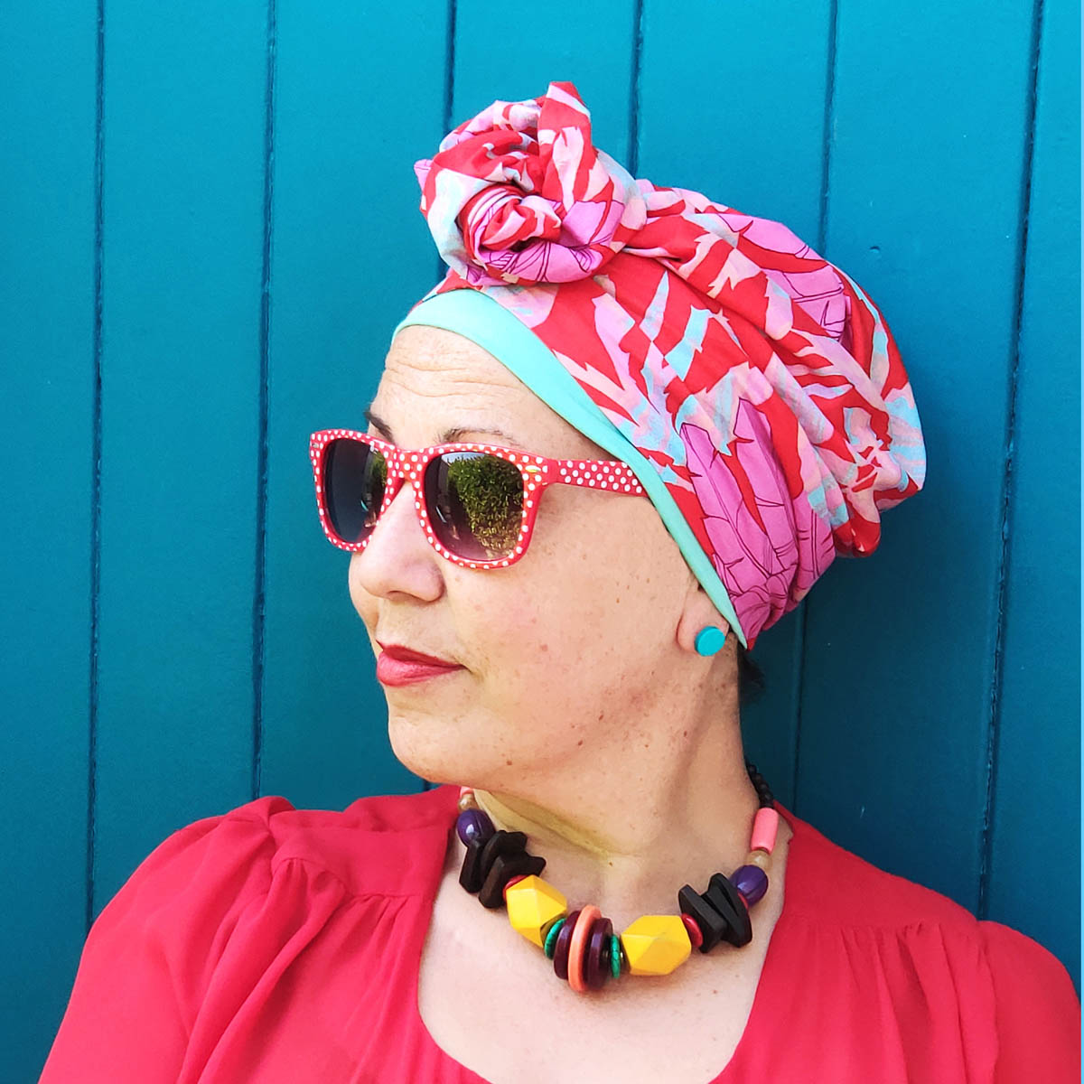 Chloe turban with inner cap – Summer collection