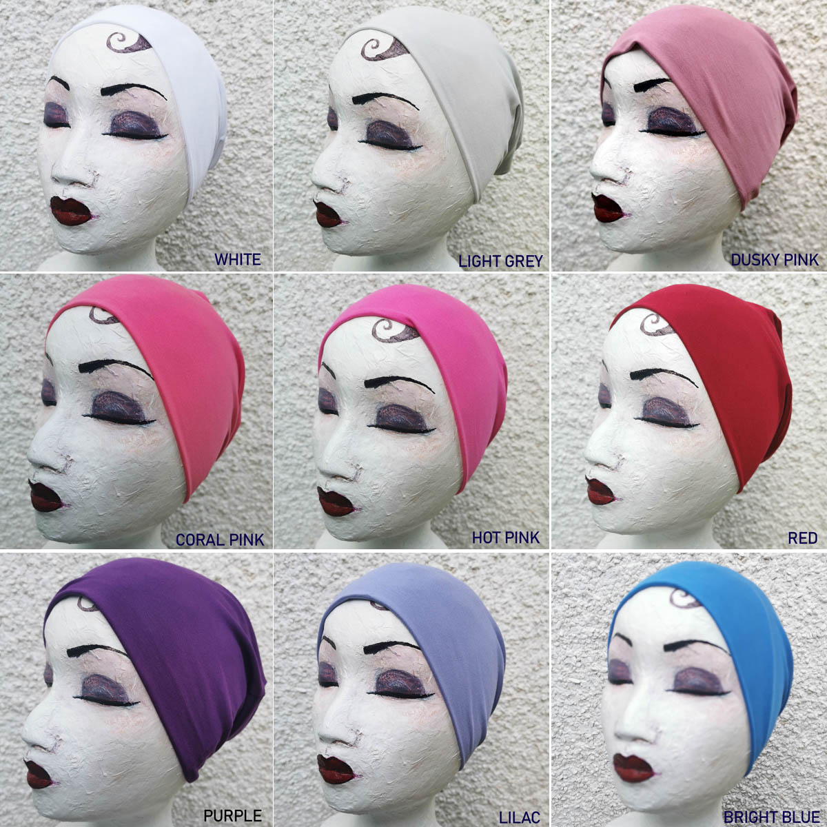 Lina turban with inner cap – Summer collection